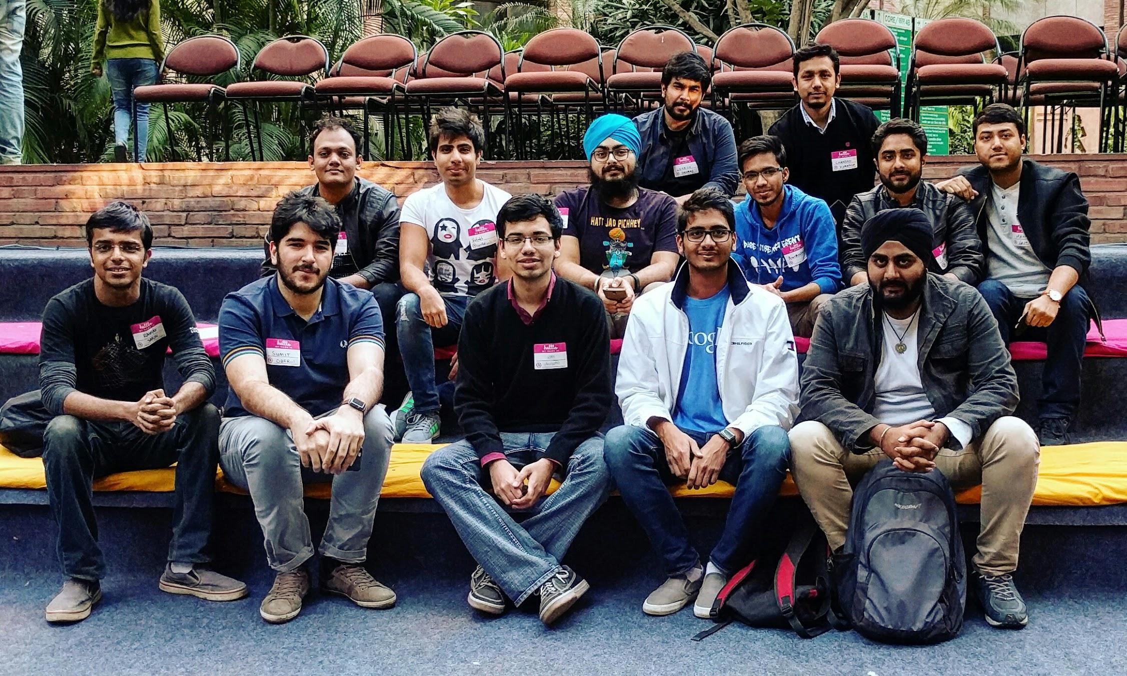 Meetup attendees at the India Habitat Centre, New Delhi.