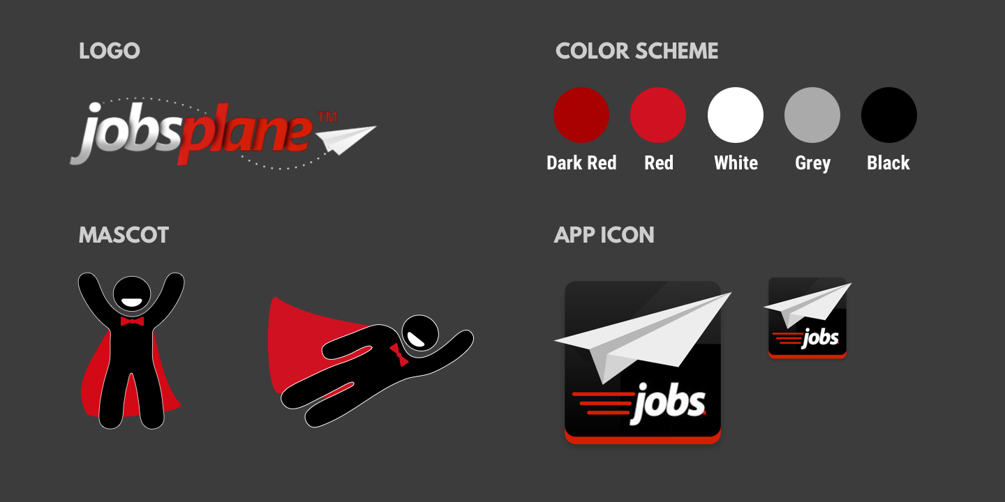 The logo, color scheme, mascot and app icon.