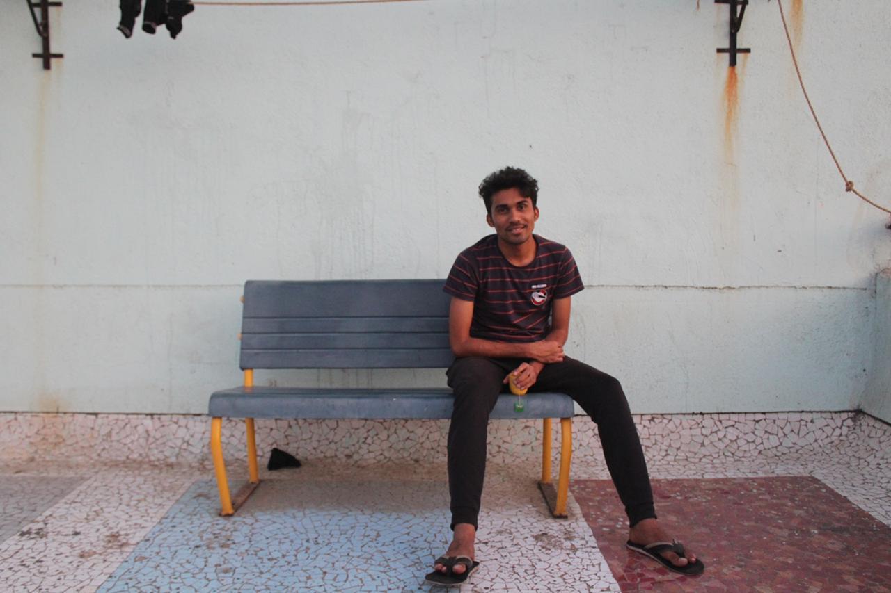 Anjan on the Hostel 12 terrace