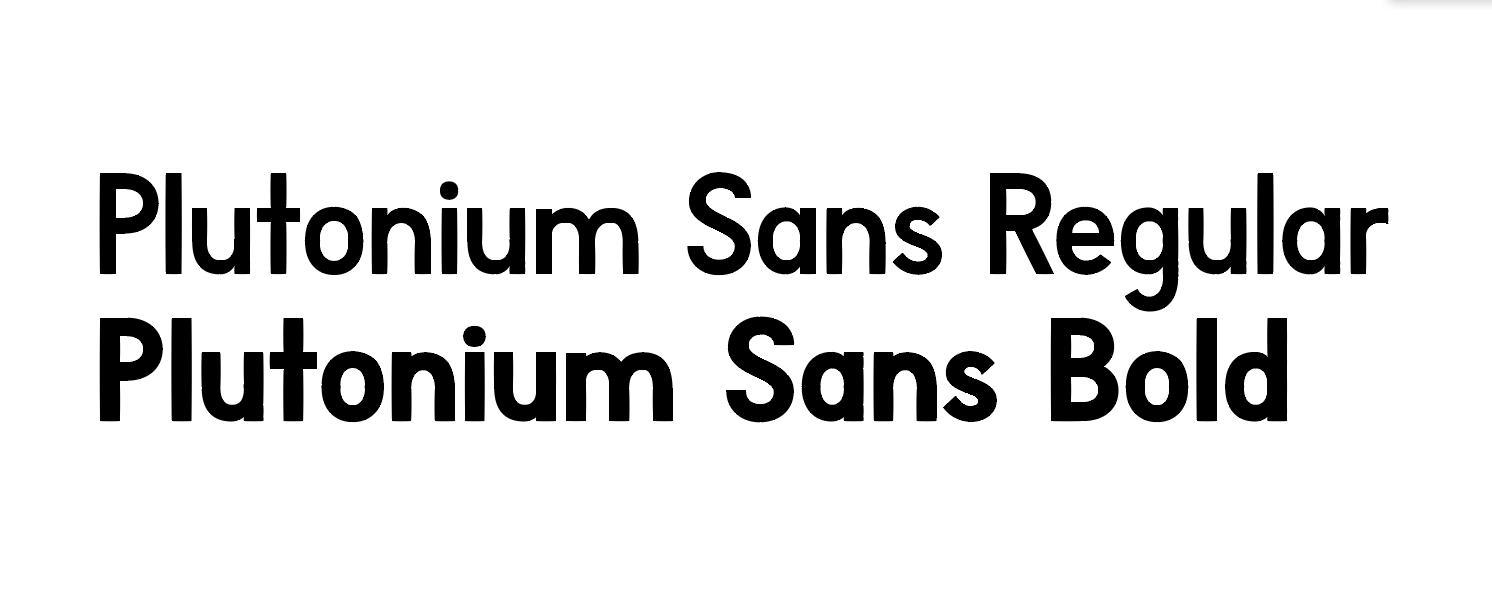 Plutonium Sans
