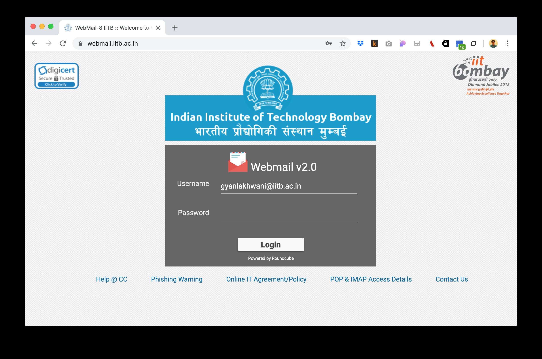 Webmail Screenshot